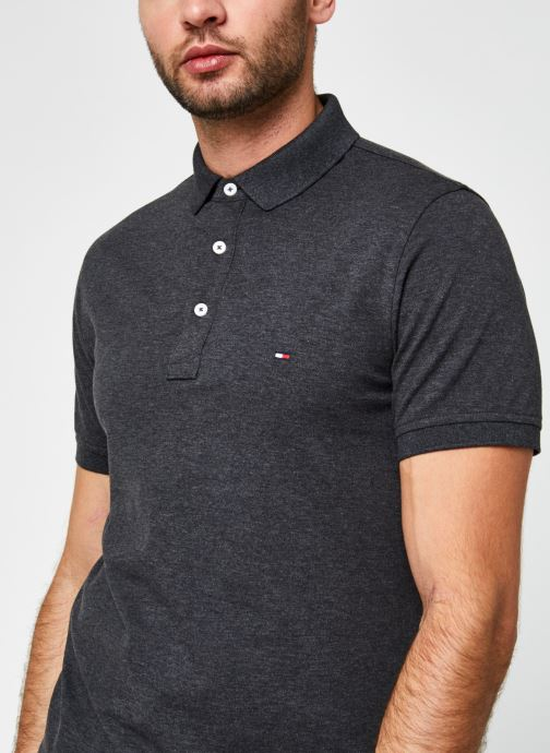Vêtements Tommy Hilfiger Tommy Slim Polo Gris vue face