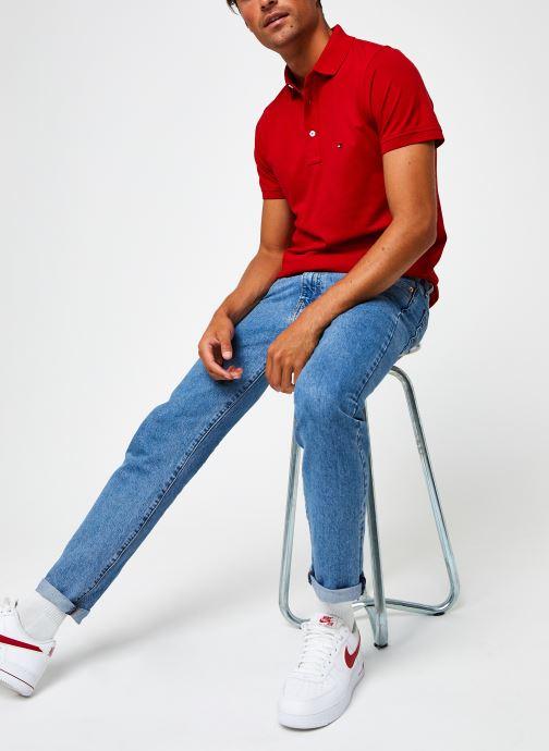 Vêtements Tommy Hilfiger Tommy Slim Polo Rouge vue bas / vue portée sac