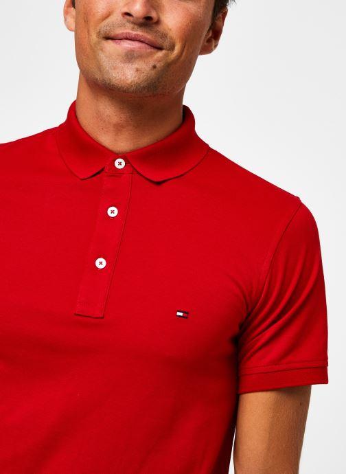 Vêtements Tommy Hilfiger Tommy Slim Polo Rouge vue face