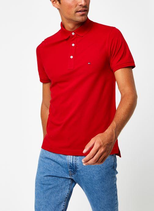 Vêtements Tommy Hilfiger Tommy Slim Polo Rouge vue droite