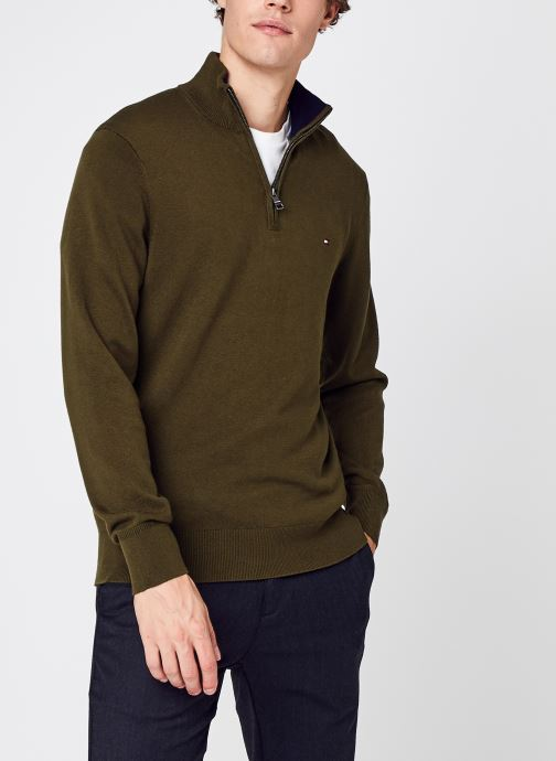 Ropa Accesorios Pima Cotton Cashmere Zip Mock