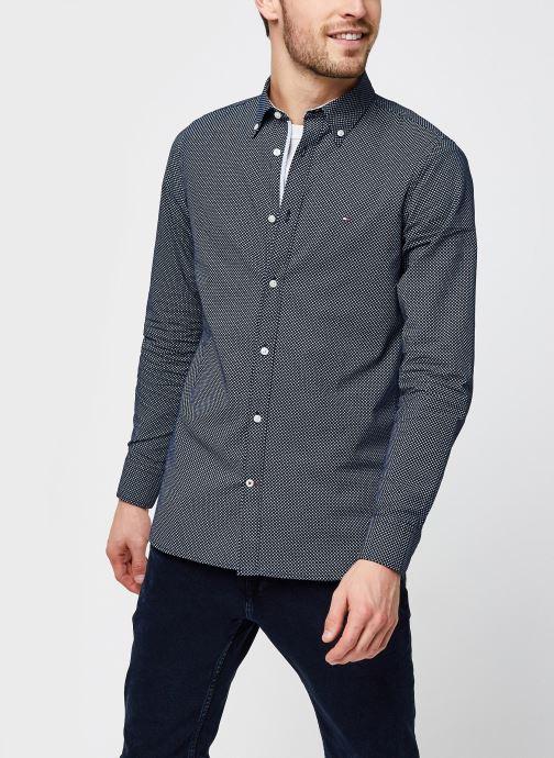 Slim Micro Print Twill Shirt