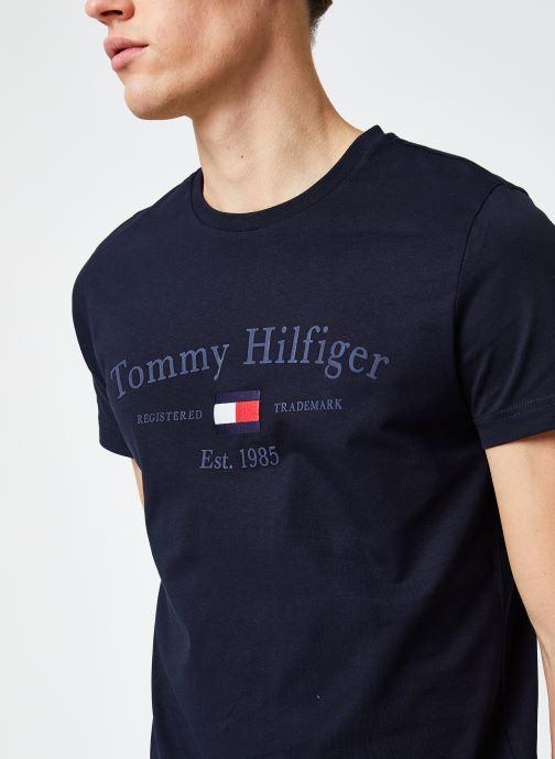Vêtements Tommy Hilfiger Archive Graphic Tee Bleu vue face