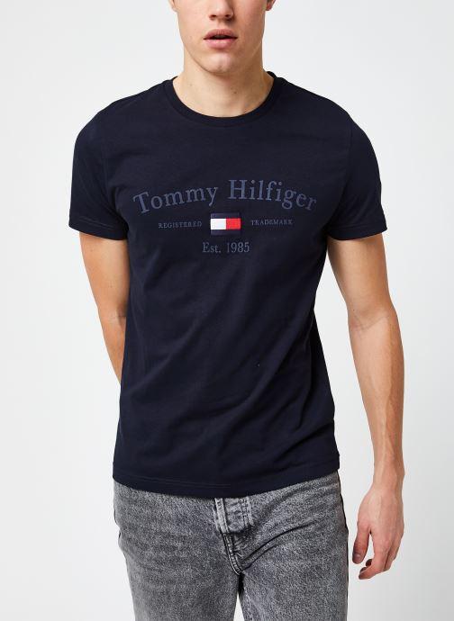 Vêtements Tommy Hilfiger Archive Graphic Tee Bleu vue droite
