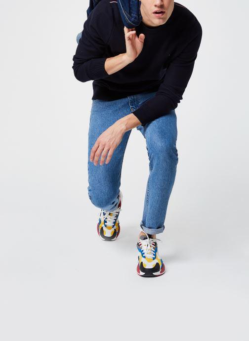 Vêtements Tommy Hilfiger Honeycomb Crew Neck Bleu vue bas / vue portée sac