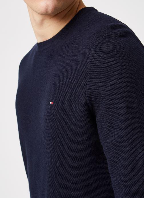 Vêtements Tommy Hilfiger Honeycomb Crew Neck Bleu vue face