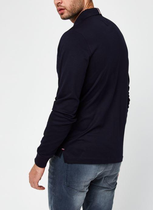 Vêtements Tommy Hilfiger Zip Interlock Slim Ls Polo Bleu vue portées chaussures