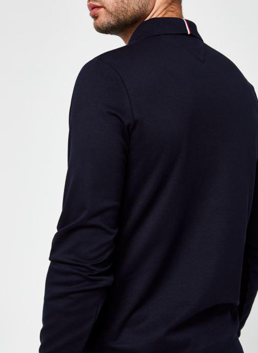 Vêtements Tommy Hilfiger Zip Interlock Slim Ls Polo Bleu vue face
