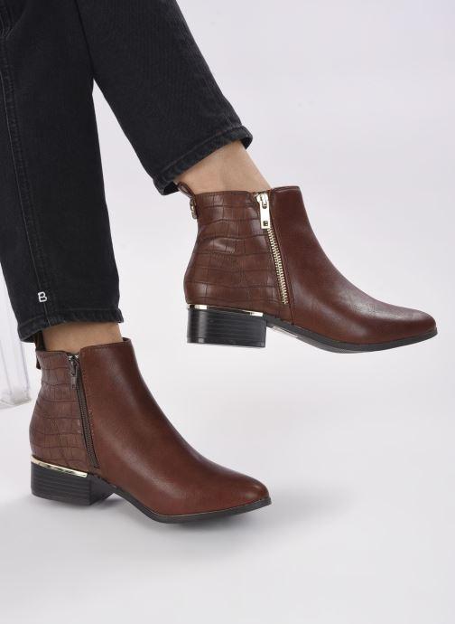Bottines et boots I Love Shoes COBEST Marron vue bas / vue portée sac