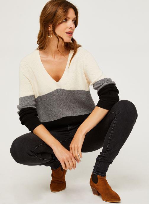 Vêtements Calvin Klein Color Block Sweater Beige vue bas / vue portée sac