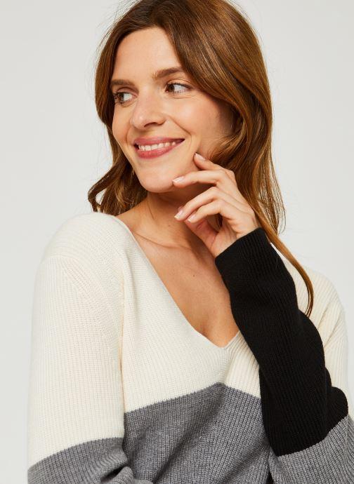 Vêtements Calvin Klein Color Block Sweater Beige vue face