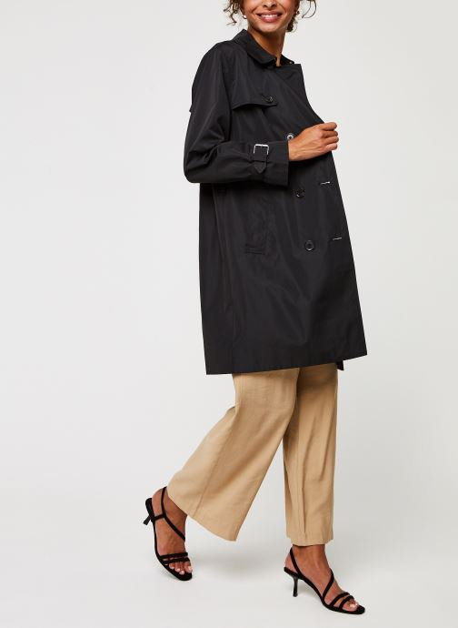 Vêtements Calvin Klein Lightweight Nylon Trench Noir vue bas / vue portée sac