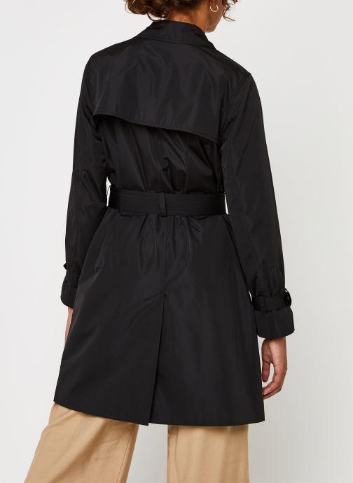 Vêtements Calvin Klein Lightweight Nylon Trench Noir vue portées chaussures