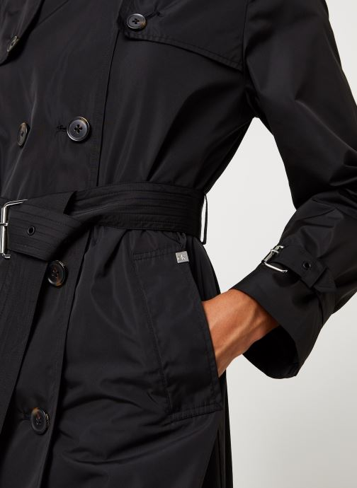 Vêtements Calvin Klein Lightweight Nylon Trench Noir vue face