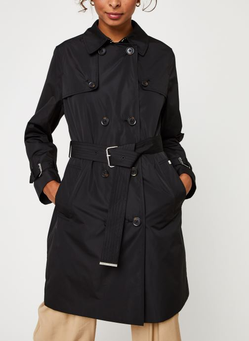 Vêtements Calvin Klein Lightweight Nylon Trench Noir vue droite