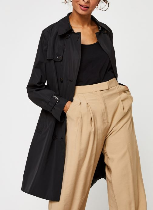 Vêtements Calvin Klein Lightweight Nylon Trench Noir vue détail/paire