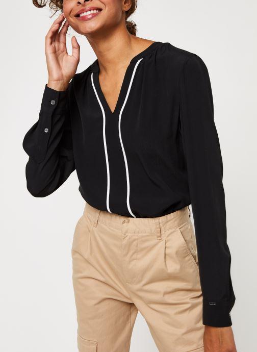 Vêtements Accessoires Placket Trim Shirt