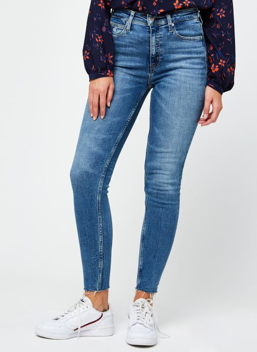 Vêtements Calvin Klein Jeans High Rise Skinny Ankle Bleu vue détail/paire
