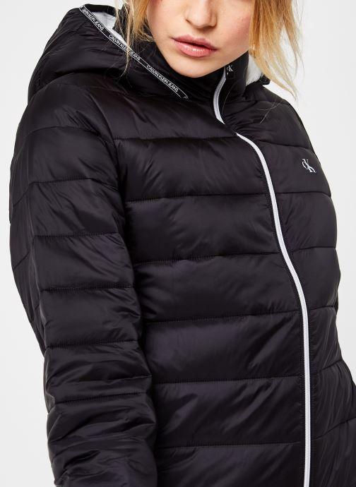 Vêtements Calvin Klein Jeans Logo Binding Lw Padded Puffer Noir vue face