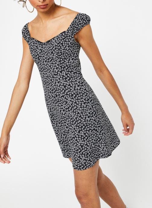 Vêtements Calvin Klein Jeans Off Shoulder Floral Dress Noir vue droite