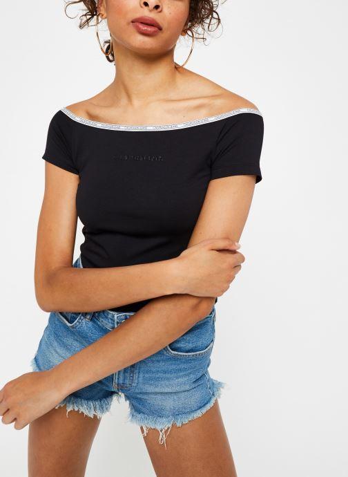 Vêtements Accessoires Logo Trim Ss Bardot Top
