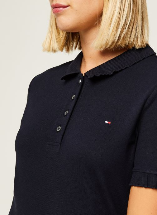 Vêtements Tommy Hilfiger Cerise Slim Polo Ss Bleu vue face