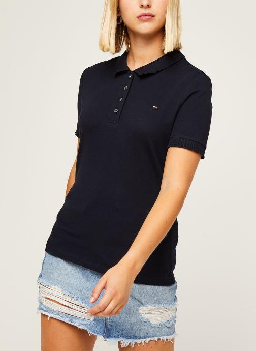 Vêtements Tommy Hilfiger Cerise Slim Polo Ss Bleu vue droite
