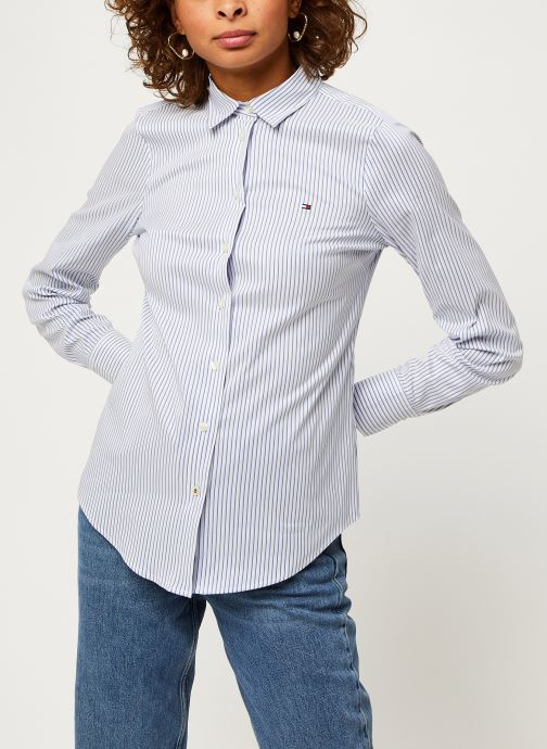 Vêtements Tommy Hilfiger Sally Shirt Ls W1 Bleu vue droite