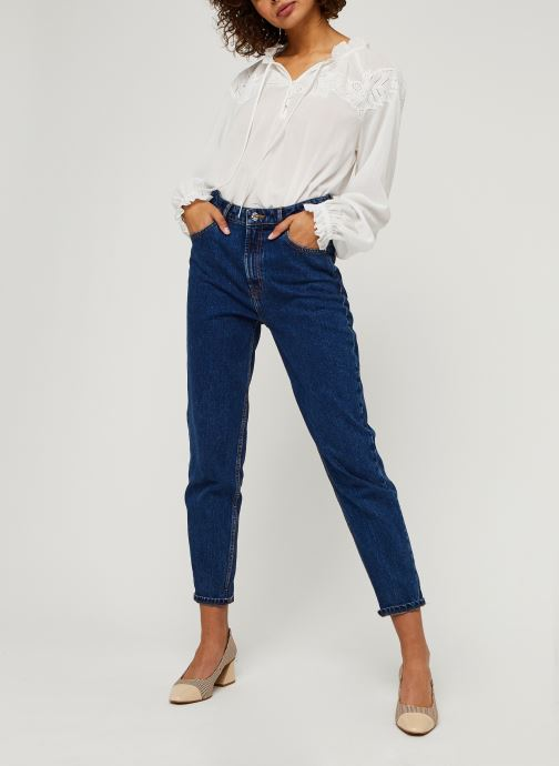 Vêtements Tommy Hilfiger Ruth Emb Blouse Ls Blanc vue bas / vue portée sac
