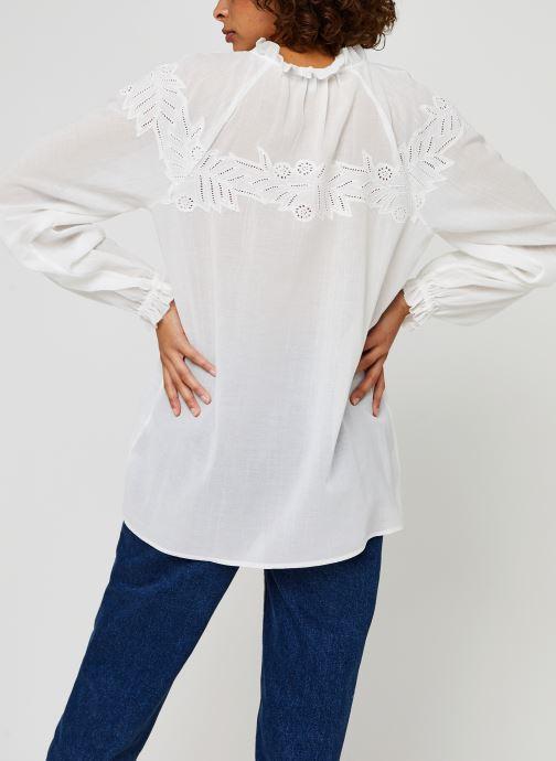 Vêtements Tommy Hilfiger Ruth Emb Blouse Ls Blanc vue portées chaussures