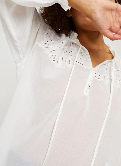 Vêtements Tommy Hilfiger Ruth Emb Blouse Ls Blanc vue face
