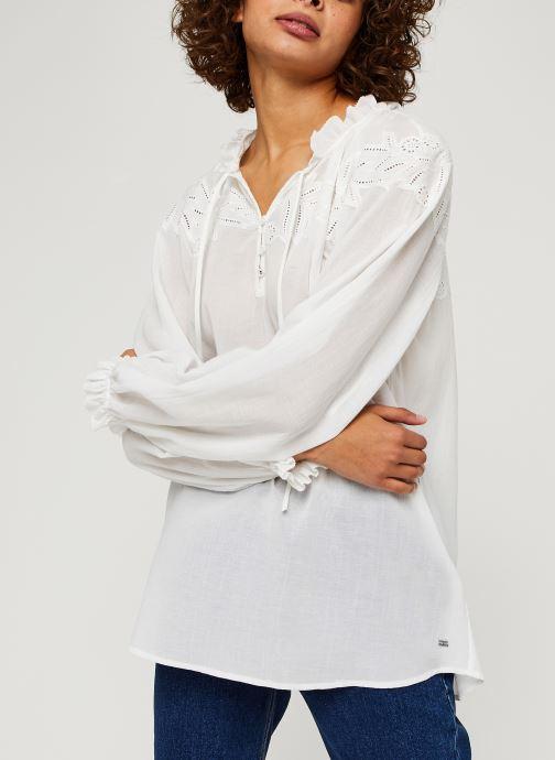 Vêtements Tommy Hilfiger Ruth Emb Blouse Ls Blanc vue droite