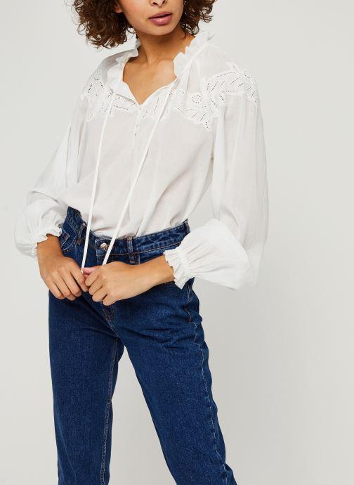 Vêtements Tommy Hilfiger Ruth Emb Blouse Ls Blanc vue détail/paire