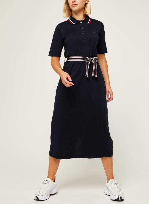 Vêtements Tommy Hilfiger Brenna Reg Polo Dres Bleu vue bas / vue portée sac