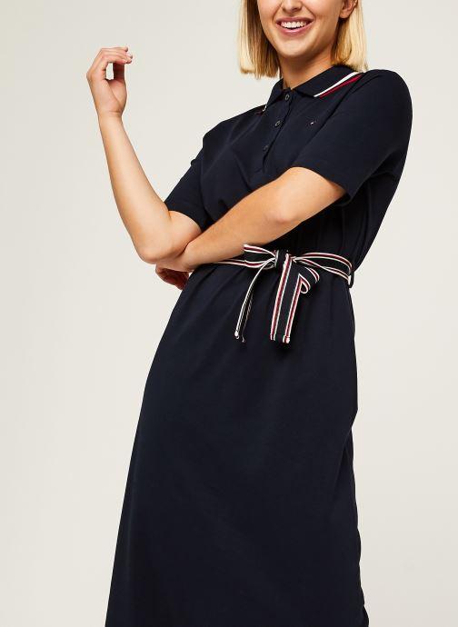 Vêtements Tommy Hilfiger Brenna Reg Polo Dres Bleu vue droite
