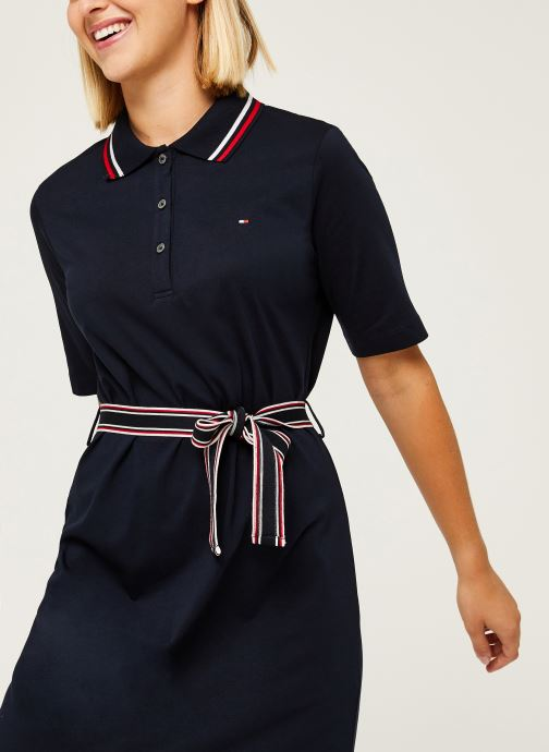Vêtements Tommy Hilfiger Brenna Reg Polo Dres Bleu vue détail/paire