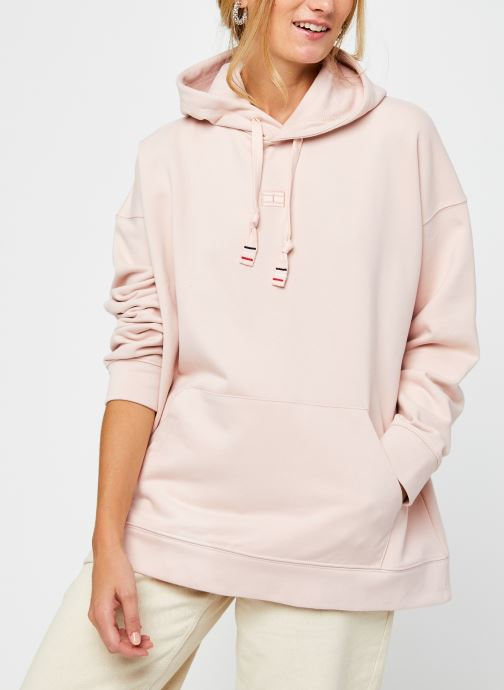 Vêtements Tommy Hilfiger Cindy Relaxed Hoodie Rose vue droite