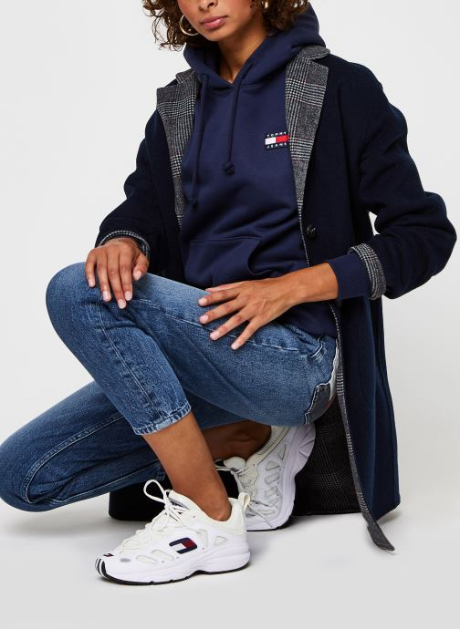 Vêtements Tommy Jeans Tjw Tommy Badge Hood Bleu vue bas / vue portée sac
