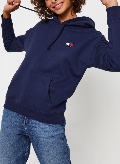 Vêtements Tommy Jeans Tjw Tommy Badge Hood Bleu vue détail/paire