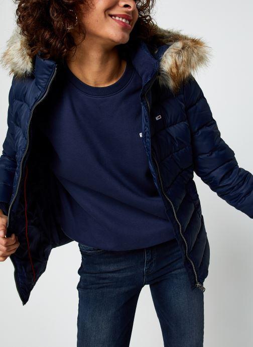 Vêtements Tommy Jeans Tjw Basic Hooded Dow Bleu vue détail/paire