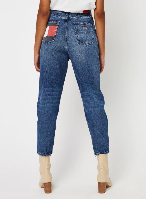 Kleding Tommy Jeans Mom Jean Hr Tprd Btn Blauw model