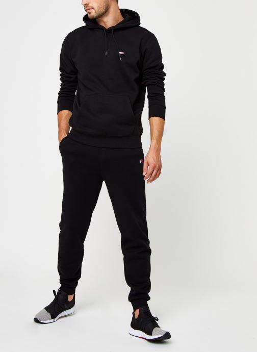 Vêtements Tommy Jeans TJM Regular Fleece Hoodie Noir vue bas / vue portée sac