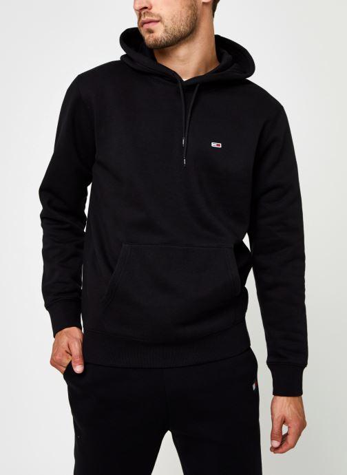 Vêtements Tommy Jeans TJM Regular Fleece Hoodie Noir vue droite