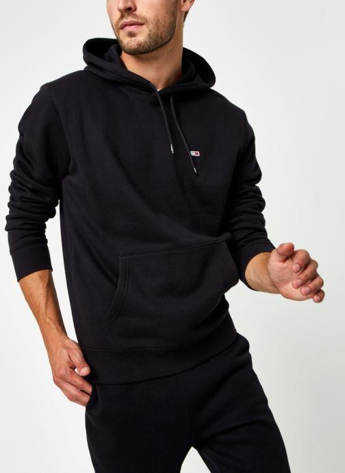 Vêtements Tommy Jeans TJM Regular Fleece Hoodie Noir vue détail/paire