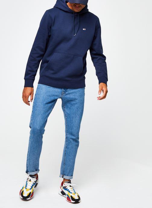 Vêtements Tommy Jeans TJM Regular Fleece Hoodie Bleu vue bas / vue portée sac