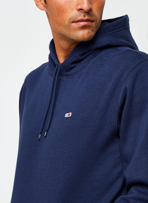 Vêtements Tommy Jeans TJM Regular Fleece Hoodie Bleu vue face