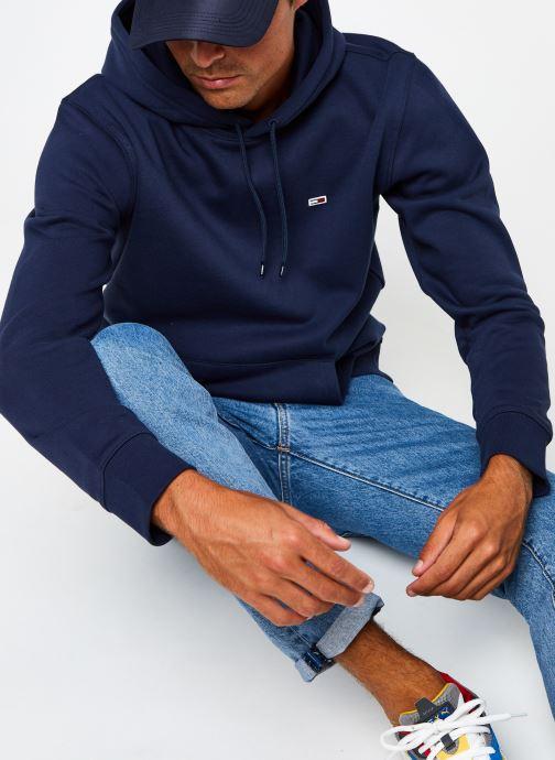 Vêtements Tommy Jeans TJM Regular Fleece Hoodie Bleu vue détail/paire