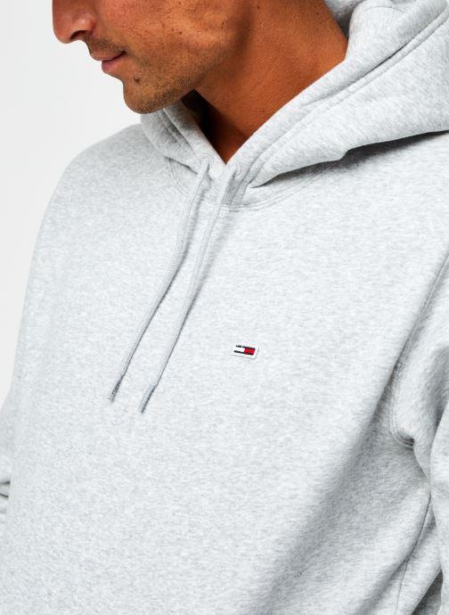 Vêtements Tommy Jeans TJM Regular Fleece Hoodie Gris vue face