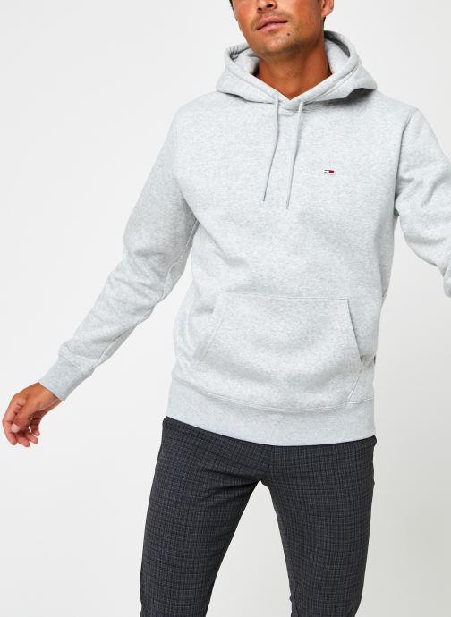 Vêtements Tommy Jeans TJM Regular Fleece Hoodie Gris vue droite