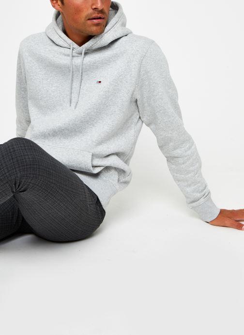 Vêtements Tommy Jeans TJM Regular Fleece Hoodie Gris vue détail/paire